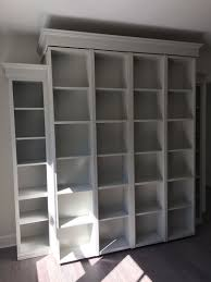 bookcase wall bed. Perfect Bookcase Bifold Bookcase Wallbed In White Finish And Wall Bed D