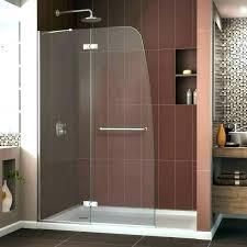 glass shower door hinge seal side frameless leaks at bottom stand bathrooms cool r framed
