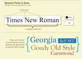 what font to use on resumes the nitty gritty of resume font size and resume formats