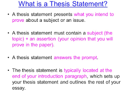 thesis statements notes you will need to formulate a thesis what is a thesis statement