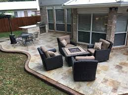 Backyard Concrete Designs Amazing Stamped Concrete Patio San Antonio Diamond Decks