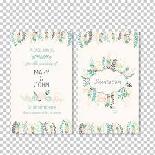 Wedding Card Collage Wedding Invitation Marriage Greeting Card Elegant Plant Flowers