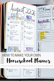 Diy Homeschool Planner For The Artistically Challenged Bullet
