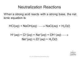 balanced chemical equation sodium hydroxide and hydrochloric acid