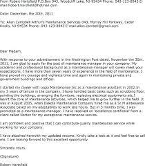 Resume For Maintenance Beauteous Maintenance Resume Cover Letter Maintenance Cover Letter Maintenance