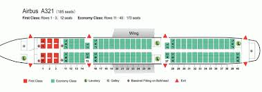 Air China Airlines Airbus A321 Aircraft Seating Chart Air