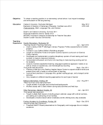 Sample Resume Objectives Sample resume teachers objectives 74