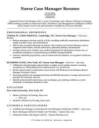 Manager Resume Sample Nurse Case Manager Resume Sample Resume Companion