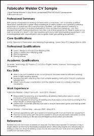 Welding Resume Examples Best Welder Resume Sample Printable Resumes