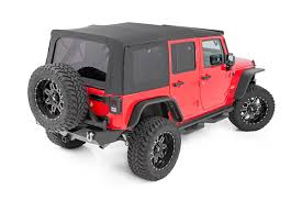 rough country replacement soft top for 2010 2018 jeep wrangler jk unlimited 4 door rough country suspension systems