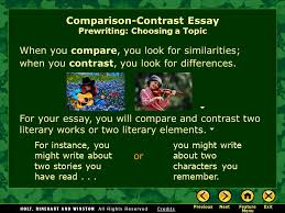 writing workshop expository writing comparison contrast essay  when you contrast you look for differences
