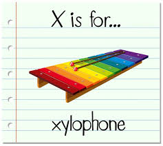 The international phonetic alphabet (ipa) is a system where each symbol is associated with a particular english sound. Free Vector Flashcard Letter X Is For Xylophone