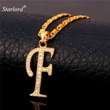 F P Lexile Conversion Chart Us 6 9 40 Off Starlord Initial F Letter Pendants Necklaces Women Men Personalized Gift Alphabet Jewelry Gold Color Necklace P1676 In Pendant