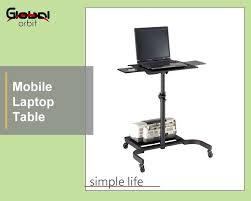 office desk laptop computer notebook mobile. mobile laptop table with wheels adjustable computer cpu holder notebook office desk e