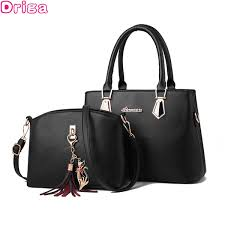 DRIGA <b>Women's 2 PCS Set luxury</b> handbag Fashion Casual Tote