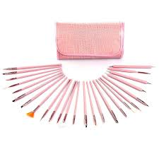 Glow Professional 25 piece Nail Art Brushes and Dotting Tools Set ...