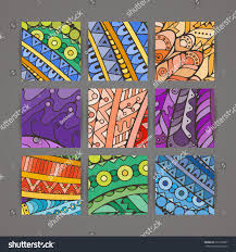 Intricate Patterns Amazing Set Four Vector Colorful Intricate Patterns Stock Vector Royalty