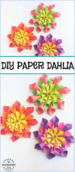 Dahlia Flower Making With Paper Diy Paper Dahlia Flower Craft For Kids The Inspiration Edit