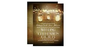rustic wedding invitations & announcements zazzle Rustic Wedding Invitation Cards rustic mason jars string lights elegant wedding card rustic wedding invitation cardstock