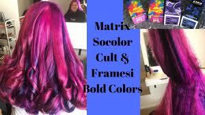 hot pink hair with matrix socolor cult framesi bold