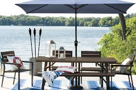 target patio tables small patio table with umbrella hole home depot outdoor dining sets