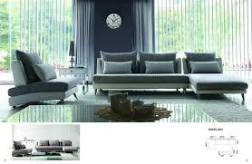 gray fabric sectional sofa. Luxury Gray Palms Fabric Sectional Sofa - Chaise