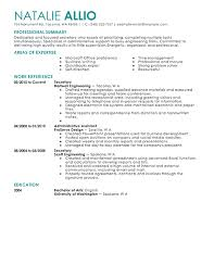 Secretary Resume Template