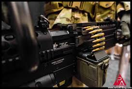 chainsaw gun. ares knights arm co chainsaw, kac lmg airsoft chainsaw gun o