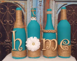 Items similar to Hand Painted Set of Three Halloween Wine Bottle Decorations  on Etsy