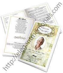 Funeral Booklet | Funeral Booklet Templates