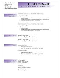 New Resume Format Free Download Format In Word File Free Download Co