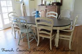 French Country Glazed Creamy Painted Dining Set Mini Tutorial