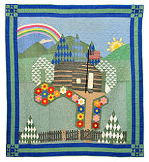 Quilt - Wikipedia & Pictorial Quilt with American Flag, unknown maker, Ohio, cottons, c. 1930,  dimensions: 64