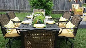 patio dining: vichy springs  piece patio dining set