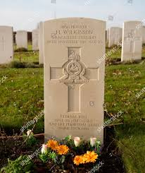 Eternal Light Cemetery Hours Grave British Private Harry Wilkinson Prowse Point Editorial