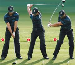 tiger is a good exle of 75 weight forward well before impact during his swing if you setup with only 60 of your weight forward it will help you stay