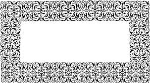 Free photo Black Ornate ornate graphics frame Creative