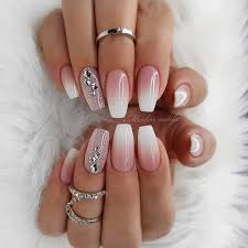 Light Pink And White Nail Designs Pin On Acrylic Nails