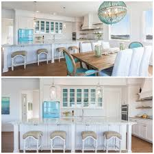 Add beach blue accessories to an all-white kitchen for an instant nautical  theme, or pair with contrasting accessories in shades of yellow, green, ...