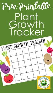 Plant Growth Chart For Kids A Free Printable For Kids