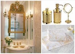 Bath Accessories Croscill Bathroom Gold And Silver From Mirror