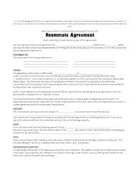 Roommate Contract Sample Free Agreement Templates Forms Word Rental ...