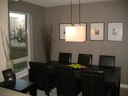 dining area lighting. Small Dining Room Interior Using Black Leather Chair And Wooden Table Completed With Area Lighting