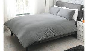 grey duvet set home grey jersey bed duvet set garden at with regard to cover plans