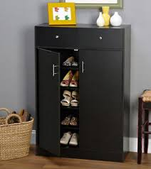 shoe storage furniture for entryway. black 20 pair shoe rack 5 shelf 2 drawers storage cabinet w doors home entryway whatu0027s it worth furniture for