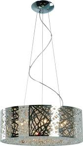 full image for lighting fixture supply co inc laser cut metal sheath pendant polished chrome electric