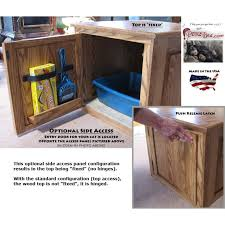 wooden cat litter box accessories included