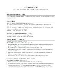 Sample Social Work Resume Social Work Resume Templates Resume