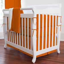 solid orange portable crib bedding  carousel designs