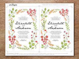 Online Invite Templates Custom Printable Wedding Invitation Watercolor Flowers Invitation